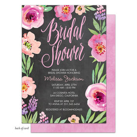Bonnie Marcus Collection Personalized Watercolor Bridal Shower (Chalkboard) Invitation