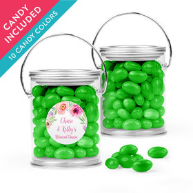 Personalized Rehearsal Dinner Favor Assembled Paint Can with Just Candy Jelly Beans