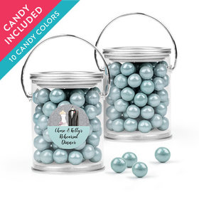 Personalized Rehearsal Dinner Favor Assembled Paint Can with Sixlets