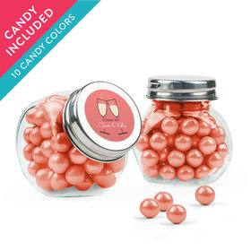 Personalized Rehearsal Dinner Favor Assembled Mini Side Jar with Sixlets