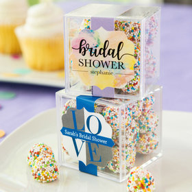 Personalized Bridal Shower JUST CANDY® favor cube with Rainbow Berries