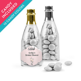 Personalized Bridal Shower Favor Assembled Champagne Bottle with Just Candy Milk Chocolate Minis