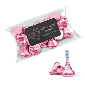 Personalized Bridal Shower Favor Assembled Pillow Box with Hershey's Kisses