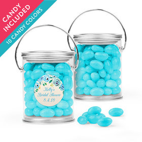 Personalized Bridal Shower Favor Assembled Paint Can with Just Candy Jelly Beans