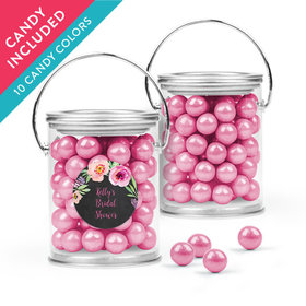 Personalized Bridal Shower Favor Assembled Paint Can with Sixlets